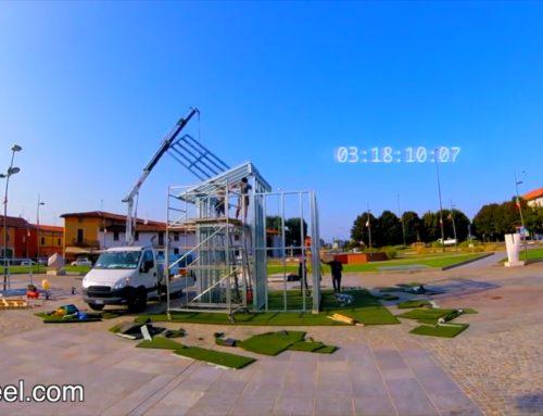 Time-Lapse Costruzione della struttura di una casa antisismica in acciaio